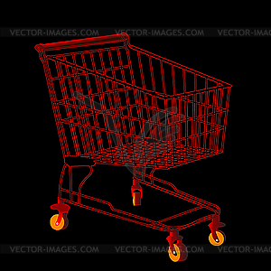 Roter Einkaufswagen - Vector-Clipart / Vektorgrafik