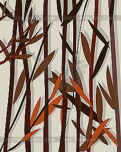 Herbst-Hintergrund mit Weidenblättern - vektorisierte Grafik