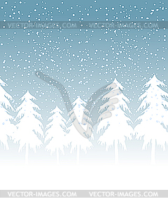 Winterlandschaft mit Schnee - Vector Clip Art