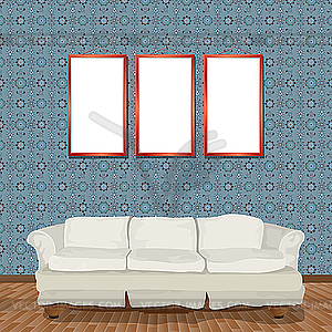 Interieur mit Sofa - Vektor-Klipart