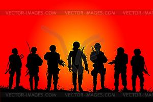 Soldaten - Vektorgrafik