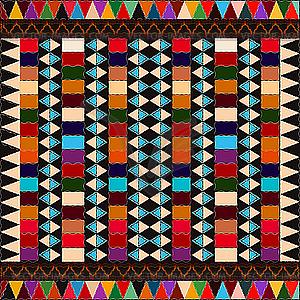 Amerikanischer indianischer etnischer Hintergrund - Royalty-Free Clipart