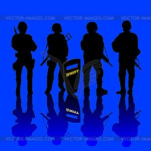 Anti-Terror-Polizei - Stock Vektor-Bild
