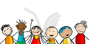 Lächelnde Gesichter von Kindern - Vector Clip Art