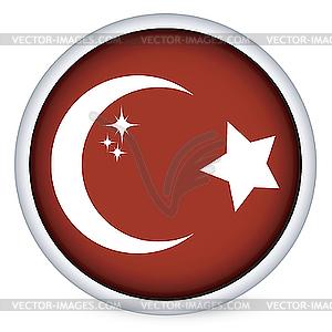Турция флаг кнопку - векторное изображение EPS
