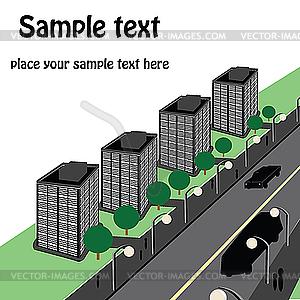 Städtische Landschaft - vektorisiertes Design