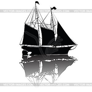 Schönes altes Schiff - Clipart