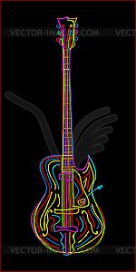 E-Gitarre - Vektorgrafik
