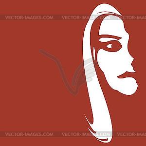 Девушки векторизованное изображение