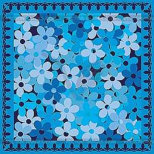 Голубые цветы векторный рисунок