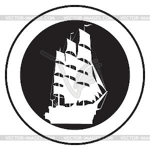 Emblem eines alten Schiffes - Vector-Clipart / Vektorgrafik