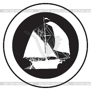 Emblem eines alten Schiffes - Vektor-Illustration