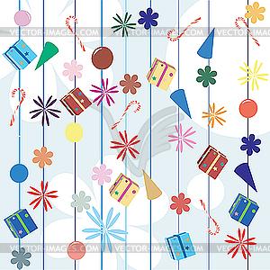Weihnachtsgeschenke Hintergrund - Vektor-Clipart EPS