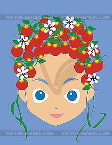 Mädchen-Gesicht - Vektor-Clipart / Vektorgrafik