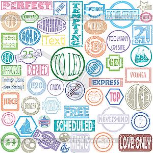 Briefmarkensammlung - Vektor-Klipart