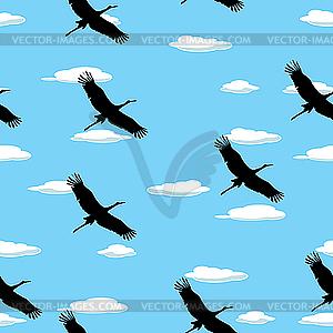 Muster mit fliegenden Vögel - Clipart-Design