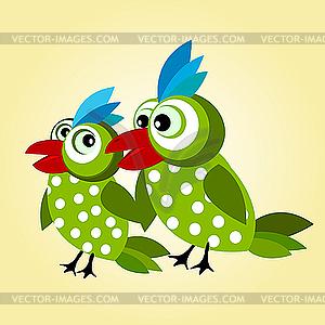 Liebesvögel-Hintergrund - Stock-Clipart