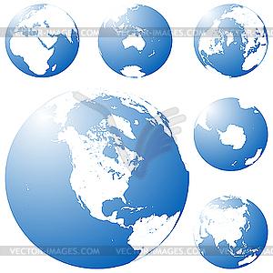 Earth-Globus - Vector-Clipart / Vektor-Bild