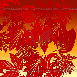Hintergrund mit Blättern - Vektor-Clipart EPS