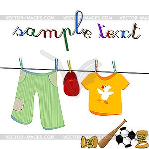 Kleidung und Spielzeug - Vektor-Klipart