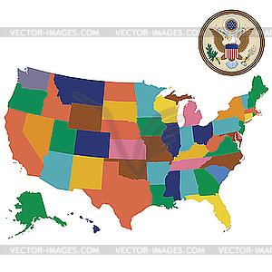 Vereinigten Staaten von Amerika - Vektor-Clipart / Vektor-Bild