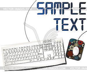 Maus und Tastatur - Vektorgrafik-Design