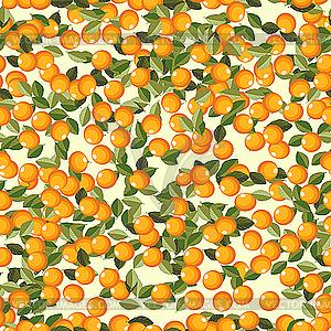 Nahtloser Hintergrund mit Orangen-Früchte - Vektor-Clipart