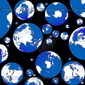 Hintergrund mit blauen Planeten - Royalty-Free Vektor-Clipart