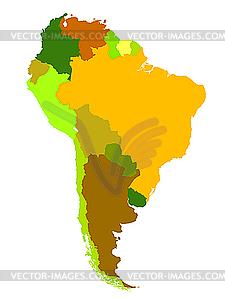 Südamerika, Lankarte - Vektor-Skizze