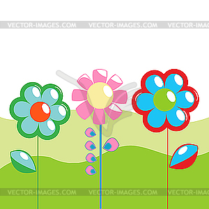 Frühling Grußkarte - Royalty-Free Vektor-Clipart