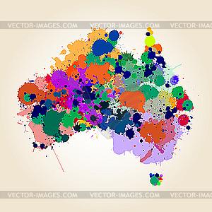 Landkarte von Australien - Vektor-Design