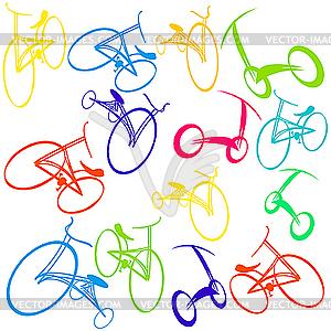 Fahrrad-Muster - Vektorabbildung