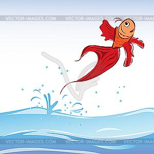 Roter Fisch - Stock Vektorgrafik