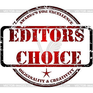 Stempel Editor`s Choice - Vector-Design