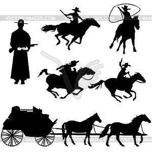 Cowboys - Vector-Clipart / Vektor-Bild