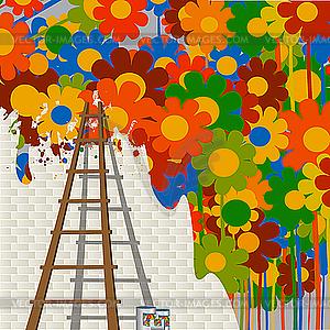 Wandmalerei - Clipart-Design