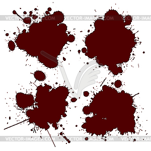 Blutflecken - Vektorgrafik-Design