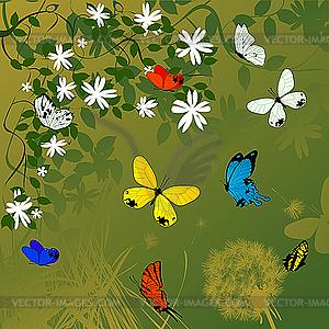Hintergrund von Frühlingsferien - Stock Vektor-Clipart
