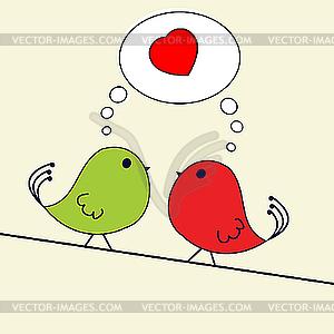 Valentine-Gruß - Vector-Design