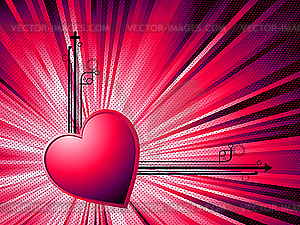 Abstract Valentinstagkarte - Royalty-Free Clipart