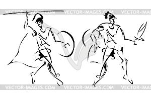 Antike Krieger - Vector-Clipart / Vektor-Bild