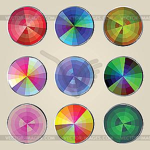 Farbräder - Vektorgrafik-Design