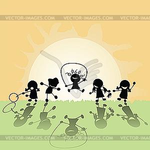 Glückliche Kinder - Vector-Clipart EPS