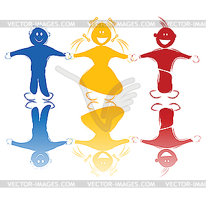 Glückliche Kinder - Stock Vektor-Clipart