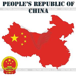 Volksrepublik China - Vektor-Design
