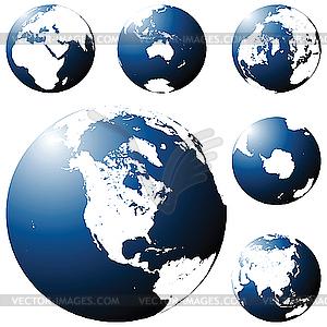 Earth-Globus - Vector-Bild