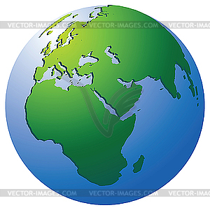 Erde-Globus - Vektorgrafik