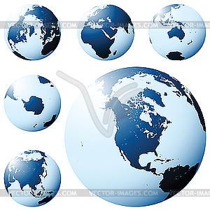 Earth-Globus - Vector-Clipart / Vektorgrafik