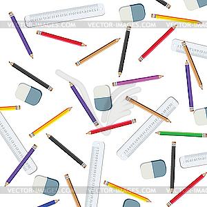 Bleistifte und Messleitungen - Vector-Abbildung