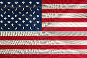 Halbton-Flagge der USA - farbige Vektorgrafik